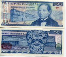 50 песо 1981 год Мексика