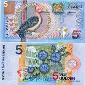 5 гульденов 2000 год Суринам