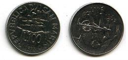 100 лир 1978 год Сан-Марино