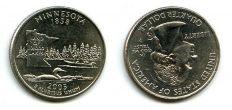 25 центов (квотер) 2005 год (Минесота) США