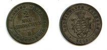 2 новых гроша 1865 год Германия Саксония