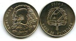 1 песо 2002 год (К.Маркс) Куба