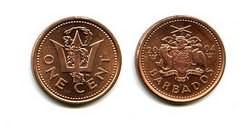 1 цент Барбадос