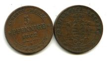 5 пфеннингов 1862 год В Германия Саксония