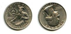 25 центов (квотер) 1976 год США
