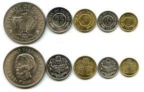 Набор монет Гайаны
