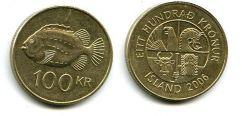 100 крон 2007 год Исландия