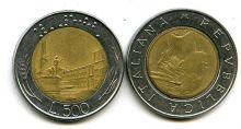 500 лир (биметалл) Италия