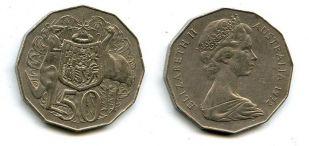 50 центов 1972 год Австралия