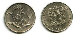 50 центов 1987 год Южная Африка