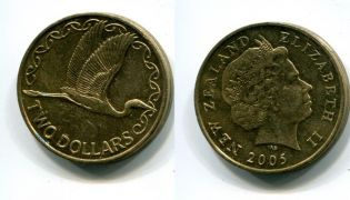 2 доллара 2005 год Новая Зеландия