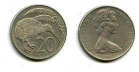 20 центов Новая Зеландия
