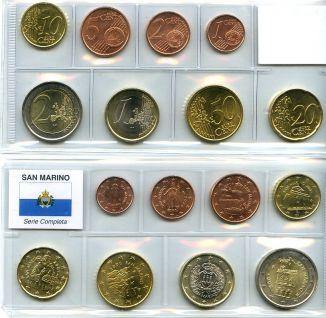 Набор монет евро Сан-Марино