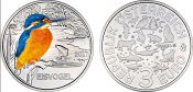 3 евро 2017 год Австрия, Зимородок