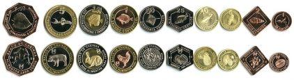 Набор монет Кабинды 2008 год