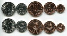 Набор монет Катара (пальмы) 2016 год