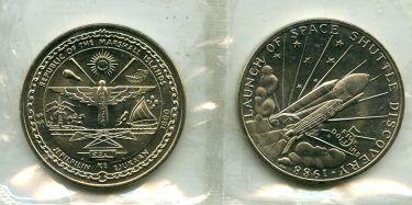 5 долларов 1988 год Маршалловы острова