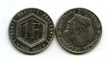 1 франк 1988 год (Ш.Де Голль) Франция
