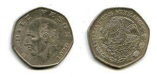 10 песо 1978 год Мексика