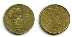 100 песо 1988 год Мексика