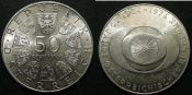 50 шиллингов 1974 год Австрия, серебро