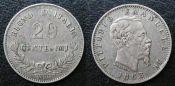 20 чентезимо Италия 1863 год