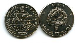 1 песо 1990 год Куба