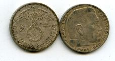 2 рейхсмарки 1939 год Германия