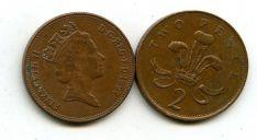 2 пенса (королева молодая) Великобритания