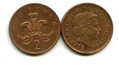 2 пенса (королева в возрасте) Великобритания