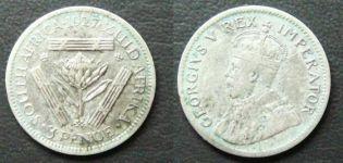 3 пенса 1927 год Южная Африка