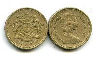 1 фунт стерлингов 1983 год Великобритания