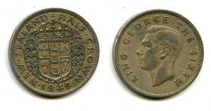 1/2 кроны 1949 год Новая Зеландия
