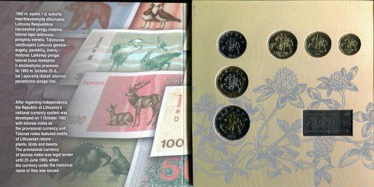 Набор монет Литвы 2012 год