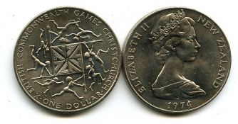 1 доллар 1974 год Новая Зеландия