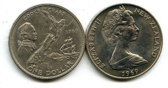 1 доллар 1969 год Новая Зеландия