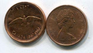 Канада 1 цент 1967 год Конфедерация
