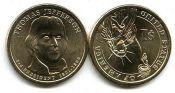 1 доллар 2007 год (Томас Джефферсон 3-й президент) США
