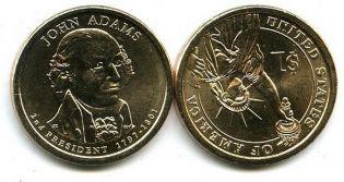 1 доллар 2007 год (Джон Адамс) США