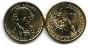 1 доллар 2007 год (Джон Адамс 2-й президент) США