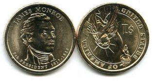 1 доллар 2008 год (Джеймс Монро) США