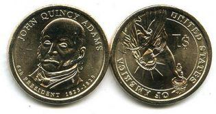 1 доллар 2008 год (Джон Куинси Адамс) США