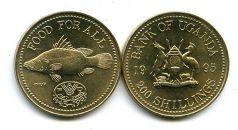 200 шиллингов 1995 год (рыба) Уганда
