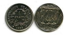 1 франк 1989 год Франция