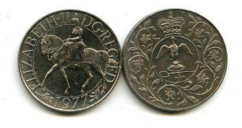 25 пенсов (1 крона) 1977 год (25 лет правления) Великобритания