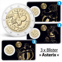 Набор монет 2 евро Франция Астерикс и Обеликс 2019 год