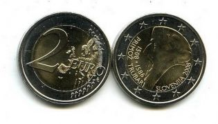 2 евро 2008 год (Трубар) Словения