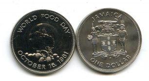 1 доллар 1981 год (день еды) Ямайка