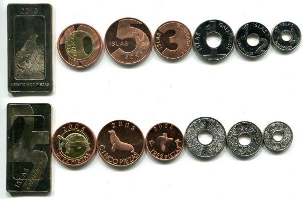 Набор монет Галапагосских островов 2008-2013 год