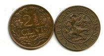 2 1/2 цента 1948 год Нидердандские Антиллы (Кюрасао)